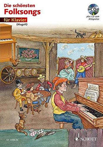 9783795749262: Die sch�nsten Folksongs: Klavier. Ausgabe mit CD