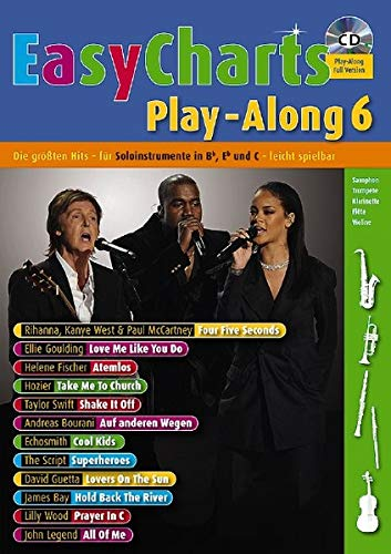9783795749439: Easy Charts Play-Along, für Bb/Eb/C-Instrument, m. Audio-CD. Bd.6