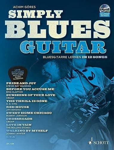 9783795749927: Simply Blues Guitar: Bluesgitarre lernen in 12 Songs. Gitarre / E-Gitarre. Ausgabe mit CD