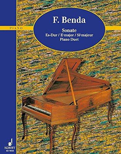 9783795752842: Sonate Es-Dur: Klavier 4-händig.