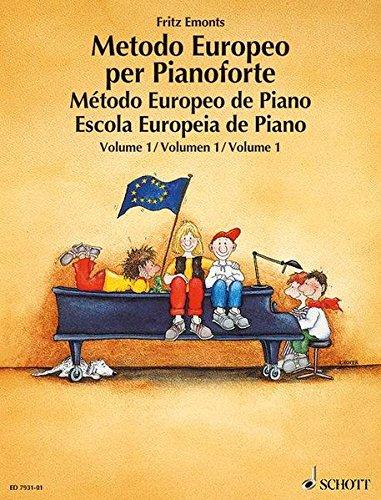9783795753245: EUROPEAN PIANO METHOD VOL1 Spanish/Portuguese/Italian