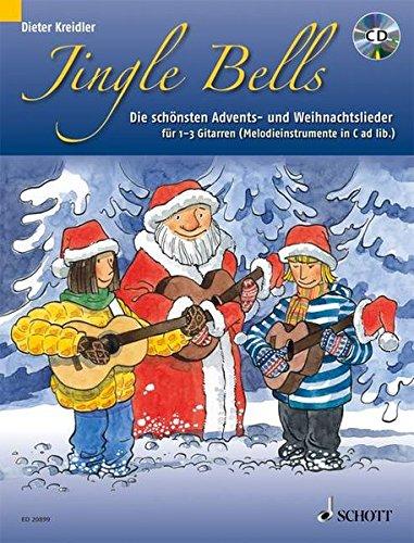 9783795754273: Jingle Bells: Die schönsten Advents- und Weihnachtslieder für 1-3 Gitarren und/oder Melodieinstrumente in C ad lib