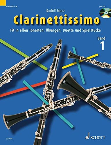 9783795756154: CLARINETTISSIMO VOLUME 1 CLARINET SOLO DUET ETUDE BOOK/CD MOSTLY IN GERMAN