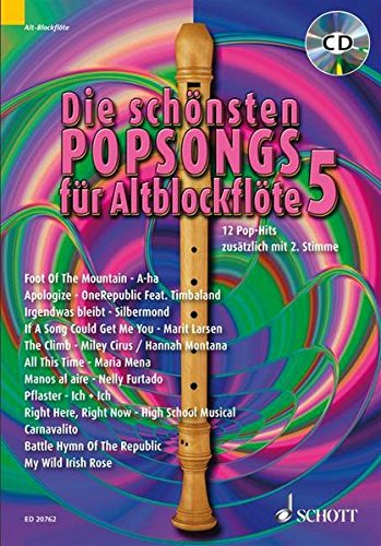 9783795759841: Die schönsten Popsongs für Alt-Blockflöte