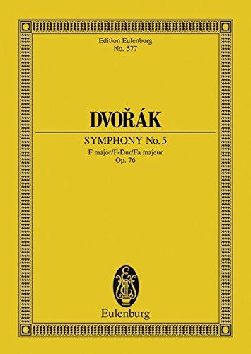 9783795761042: Sinfonie Nr. 5 F-Dur: (früher Nr. 3). op. 76. B 54. Orchester