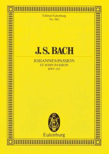 9783795761219: St. John Passion Bwv 245