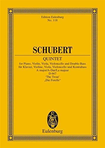9783795761257: Piano Quintet in A Major, D 667 'The Trout'. Miniature Score