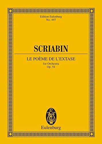 POEM OF ECSTASY STUDY SCORE LE POEME DE L'EXTASE FOR ORCHESTRA OPUS 54