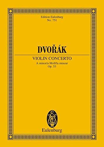 9783795762308: Violin Concerto in A Minor, Op. 53 (Edition Eulenburg)