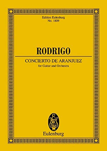 9783795762421: Concierto De Aranjuez Guitar And Orchestra Study Score