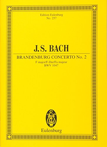 9783795762650: Brandenburg Concerto No. 2, Bwv 1047: In F Major. Miniature Score