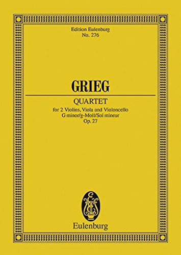 9783795762858: STRING QUARTET IN G MINOR OP27 SCORE STUDY SCORE (Edition Eulenburg)