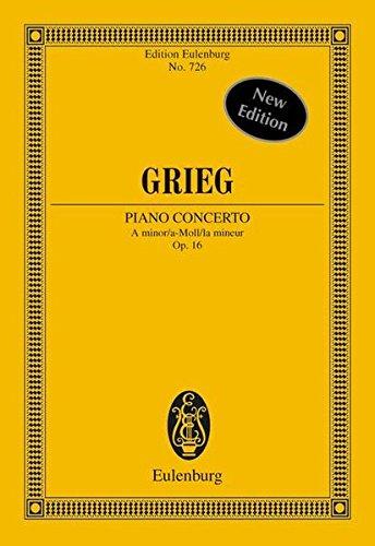 9783795762896: PIANO CONCERTO OP16 A MINOR STUDY SCORE