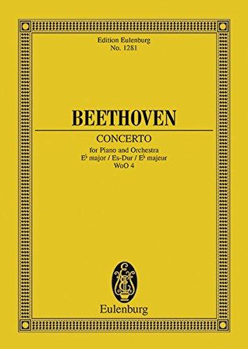 Konzert Es-Dur Klavier und Orchester Studienpartitur: Willy Hess