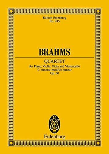 9783795763329: Piano Quartet Op. 60 for Piano, Violin, Viola and Violoncello in C Minor (Edition Eulenburg No. 245): Miniature Score / Study Score