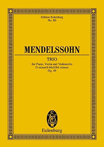 9783795763572: PIANO TRIO NO1 OP49 D MINOR  STUDY SCORE (Edition Eulenburg)
