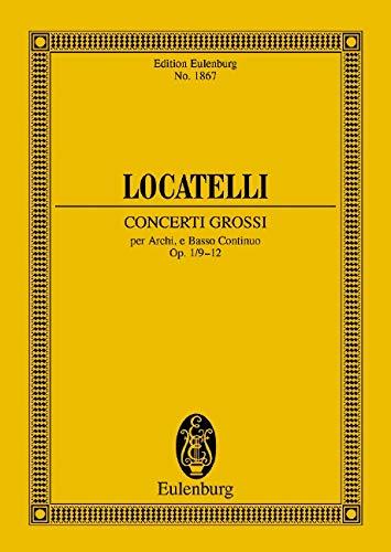 9783795764159: Concerti Grossi Op. 1, Nos. 9-12 Study Score