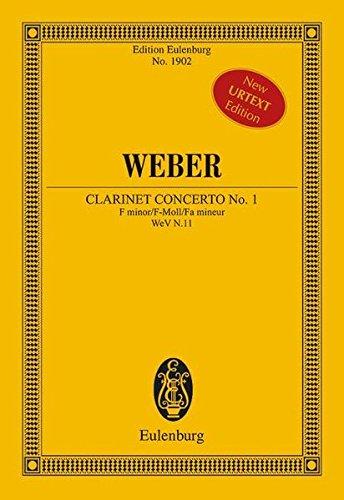 9783795764968: Konzert Nr. 1 f-Moll: für Klarinette und Orchester (Urtext). op. 73. N.11. Klarinette und Orchester. Studienpartitur (Edition Eulenburg)