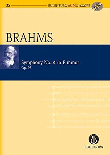 9783795765354: Sinfonie Nr. 4 e-Moll: op. 98. Orchester. Studienpartitur + CD (Eulenburg Audio+Score)