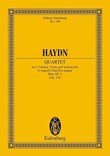 9783795766085: String Quartet in G Major, Op. 1/4, Hob.III:4