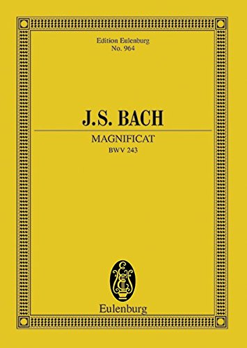 Magnificat, BWV 243 : For Choir and: Bach, Johann Sebastian,