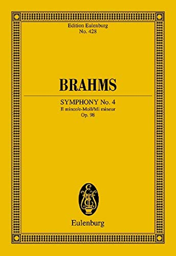 9783795766405: Symphony No. 4 in E minor, Op. 98: Study Score (Edition Eulenburg)