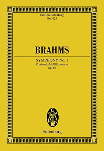 9783795766825: SYMPHONY NO1 OP68 C MINOR STUDY SCORE (Edition Eulenburg)