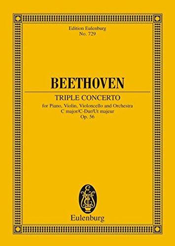 9783795766887: TRIPLE CONCERTO OP56 C MAJOR PIANO/VIOLIN/VIOLONCELLO STUDY SCORE