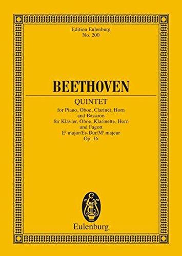 9783795767723: QUINTET OP.16 E FLAT MAJOR PIANO AND WIND STUDY SCORE (Edition Eulenburg)