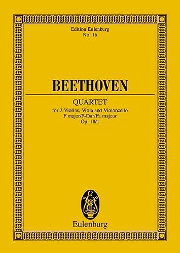 String Quartet Op. 18/1 in F Major.: Beethoven, Ludwig Va