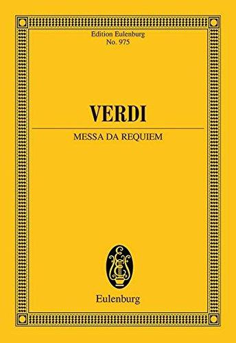 9783795769185: Messa da Requiem - New Edition: Study Score