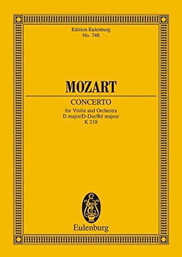 9783795769314: Violin Concerto No. 4, K. 218: in D Major (Edition Eulenburg)