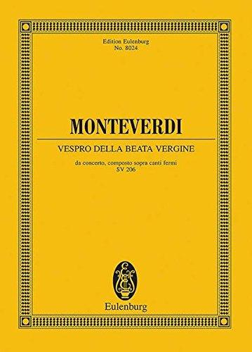 9783795769628: Vespro della Beata Vergine: Marienvesper (1610)