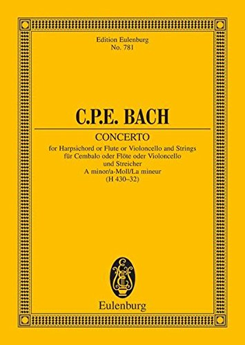 9783795771164: Concerto in A Minor: Study Score (Edition Eulenburg)
