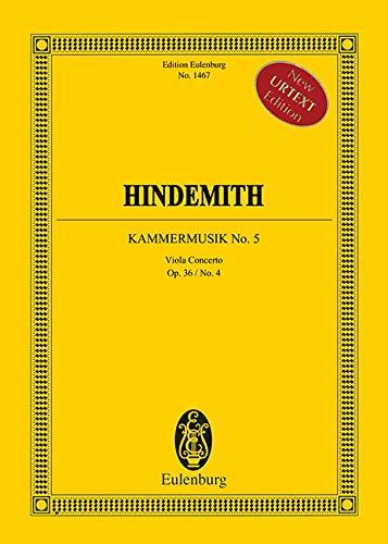 Kammermusik Nr. 5: op. 36/4. Solo-Bratsche, gr.: Giselher Schubert