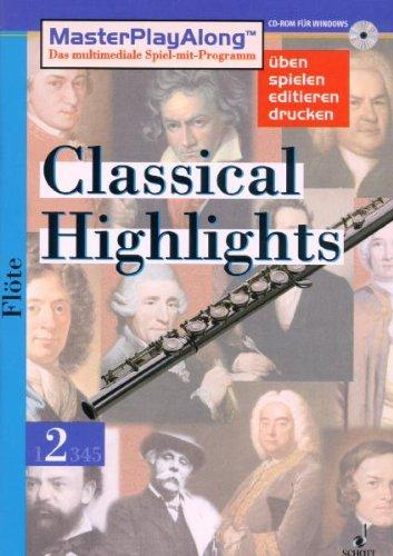 9783795775070: Classical Highlights Vol. 2 - für Flöte - schott digital music library - CD-ROM - SDL 1018