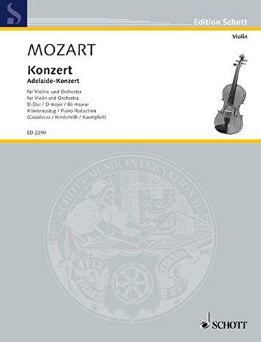 9783795795399: Concerto in D Major, KV. 294a: