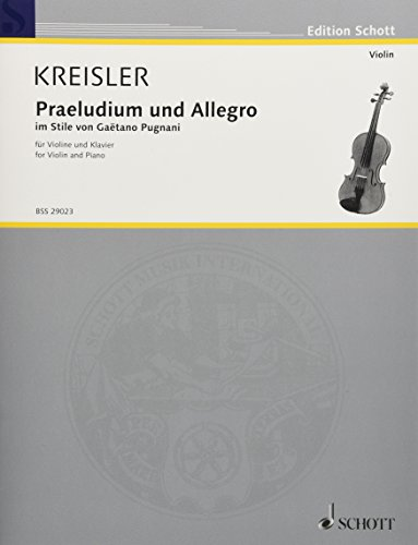 9783795795979: Praeludium and Allegro Violon