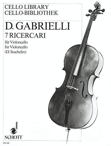 9783795796006: Gabrielli: 7 Ricercari for Cello Solo