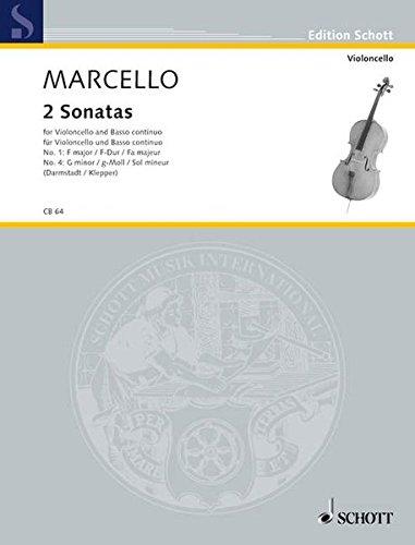 9783795796099: Zwei Sonatas: Nr. 1 F-Dur und Nr. 4 g-Moll. Violoncello und Basso continuo