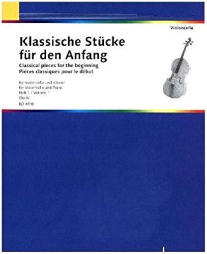 9783795796891: Klassische Stücke für den Anfang: Band 1. Violoncello und Klavier
