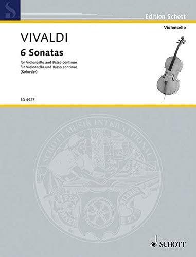 9783795796907: Vivaldi: 6 Sonatas for Cello & Piano (ed. Kolneder)
