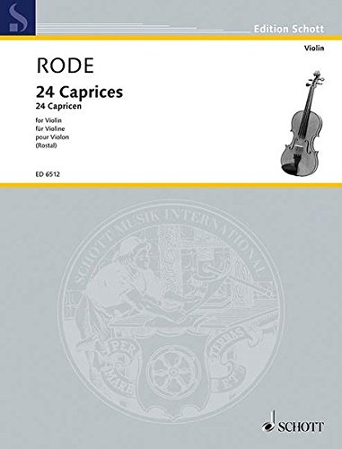 9783795797065: Rode 24 Caprices (Rostal) Scho (Violin Solo)