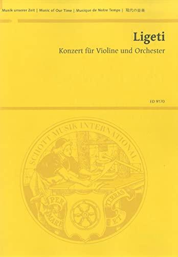 9783795797492: CONCERTO FOR VIOLIN/ORCHSTRA LIGETI STUDY SCORE