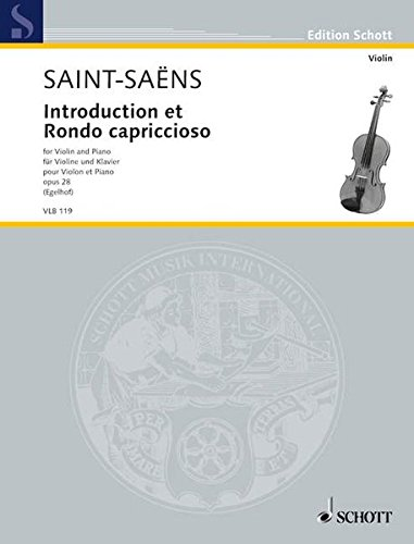 9783795798642: Introduction Et Rondo Capriccioso Op 28 For Violin And Piano