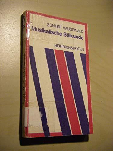 9783795901233: Musikalische Stilkunde