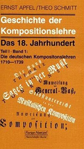 9783795907198: Geschichte der Kompositionslehre.