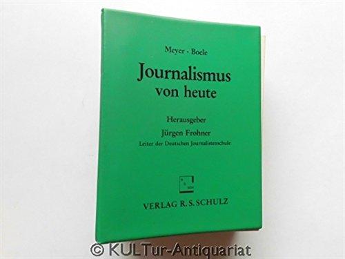 9783796203565: Journalismus von heute (Livre en allemand)