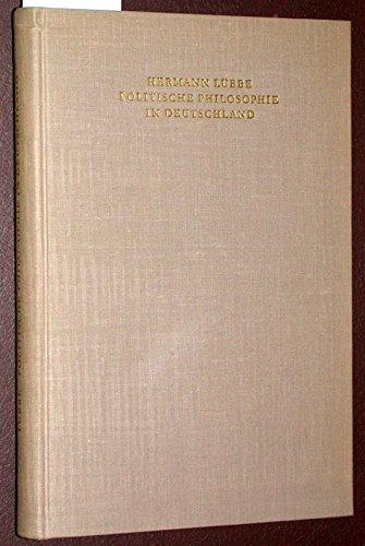 9783796501715: Politische Philosophie in Deutschland, Studien Zu Ihrer Geschichte