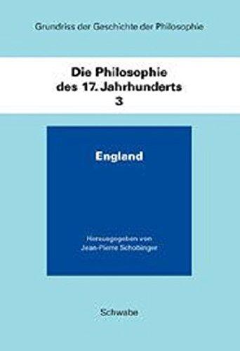 9783796508721: Die Philosophie Des 17. Jahrhunderts: England
